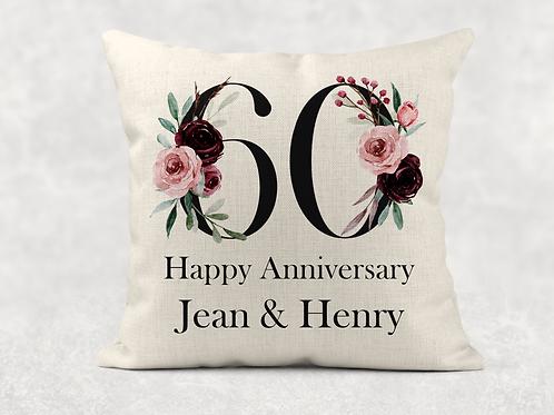 60th Wedding Anniversary Cushion