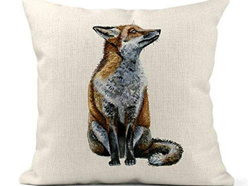 Watercolour Fox Cushion