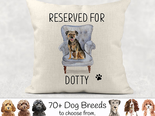 Reserved for Dog Cushion