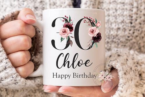 Floral Birthday Mug