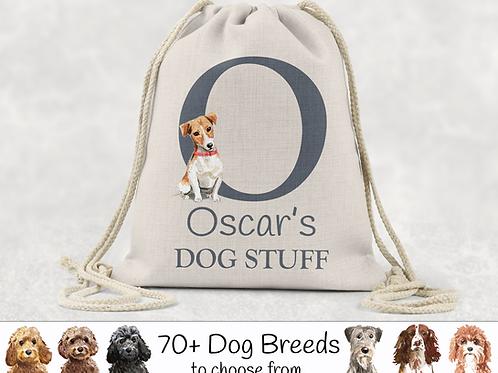 Dog Stuff Drawstring Bag