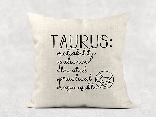 Taurus Starsign Cushion