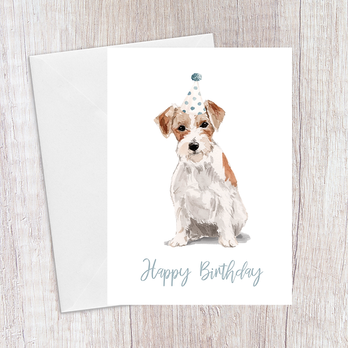 Jack Russell Birthday Card