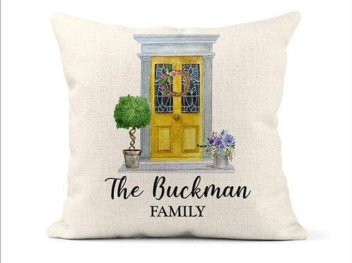 Personalised Family Door Cushion