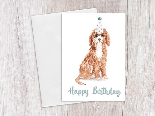 Cavapoo Birthday Card