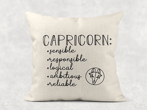 Capricorn Starsign Cushion