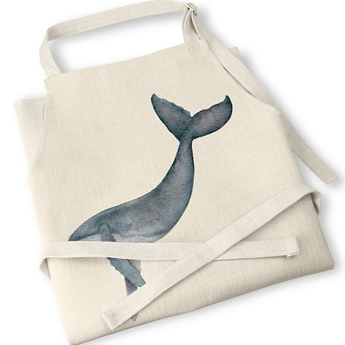 Watercolour Whale Apron