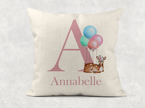Deer Name Cushion