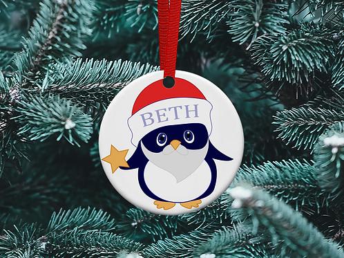 Penguin Christmas Tree Ornament
