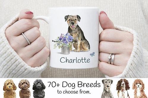 Personalised Floral Dog Mug