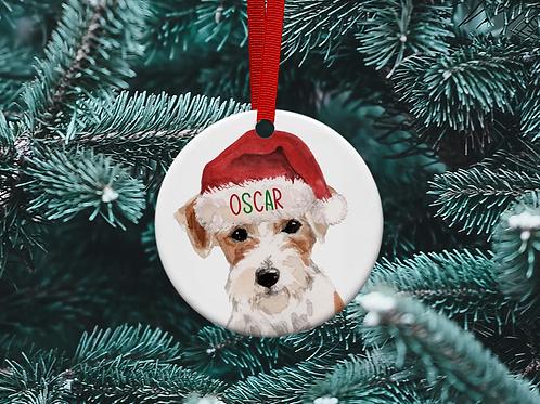Jack Russell Christmas Tree Ornament