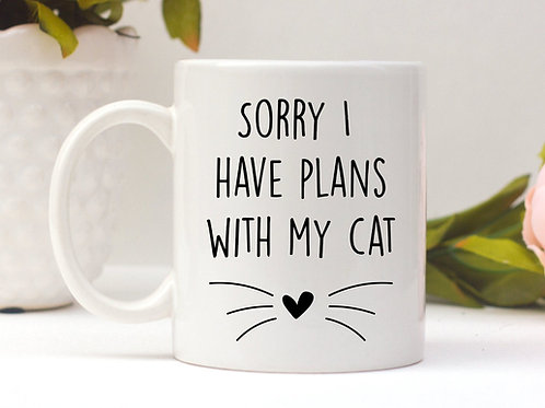 Plans With My Cat Mug