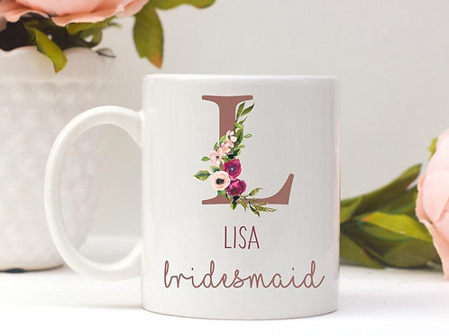 Rose Gold Wedding Party Mugs
