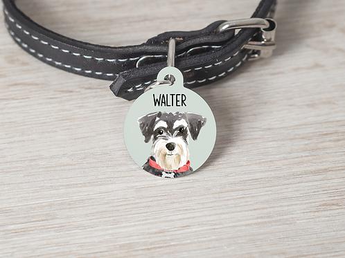 Schnauzer Dog ID Tag