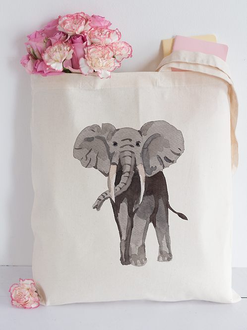 Watercolour elephant Tote Bag