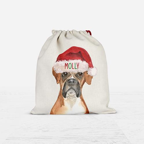 Boxer Christmas Sack