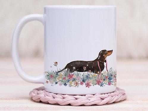 Dachshund Floral Wrap Mug