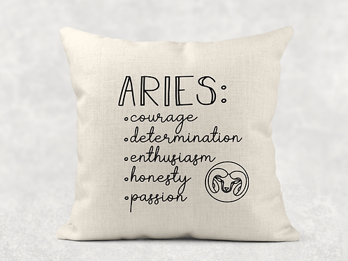 Aries Starsign Cushion