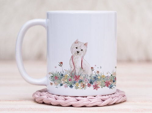 Westie Floral Wrap Mug