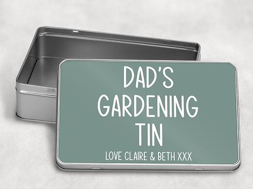 Dad's Gardening Tin