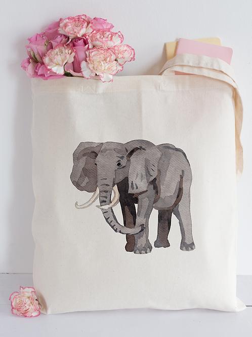 Watercolour elephant Tote Bag