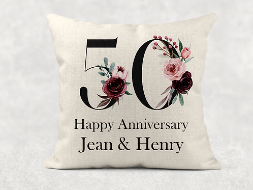 50th Wedding Anniversary Cushion