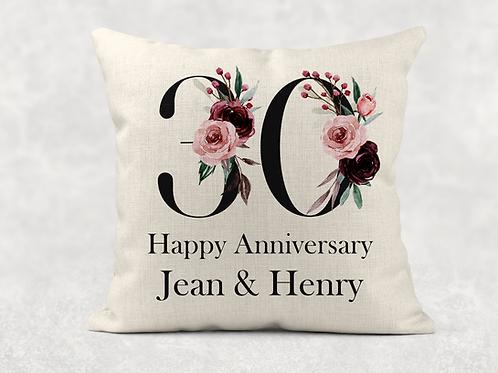 30th Wedding Anniversary Cushion