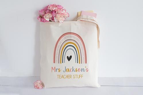 Rainbow teacher stuff Tote Bag