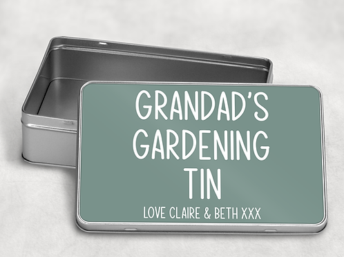 Grandad's Gardening Tin