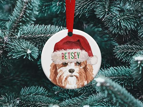 Cavapoo Christmas Tree Ornament