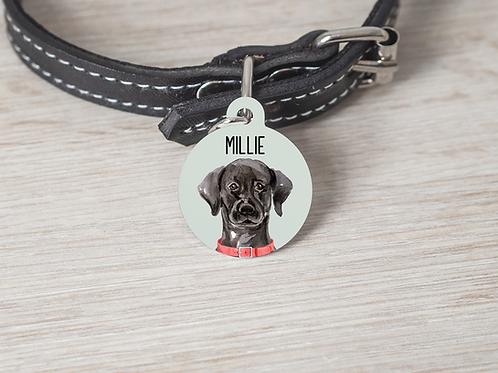 Labrador Dog ID Tag