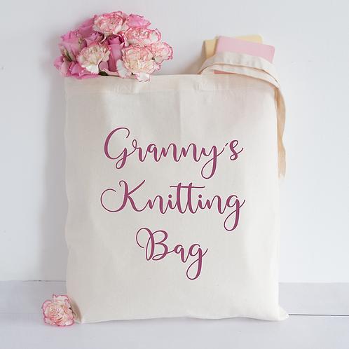 Granny's knitting bag Tote Bag