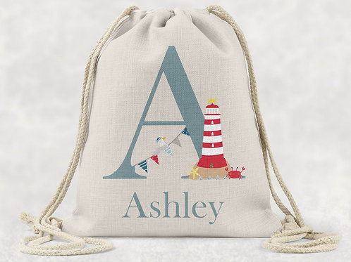Seaside Drawstring Bag