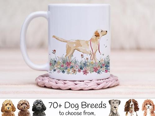 Floral Meadow Dog Mug