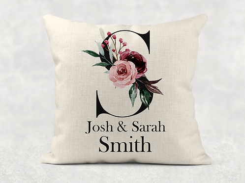 Floral couple Cushion