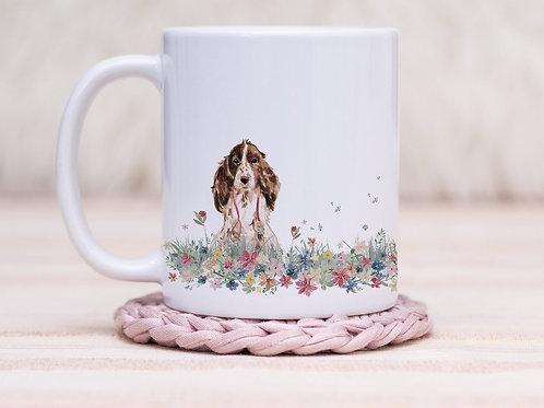 Spaniel Floral Wrap Mug