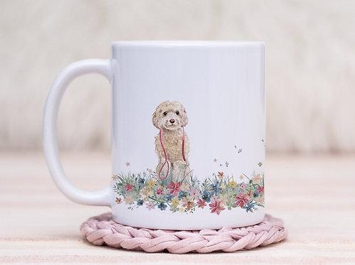 Cockapoo Floral Wrap Mug