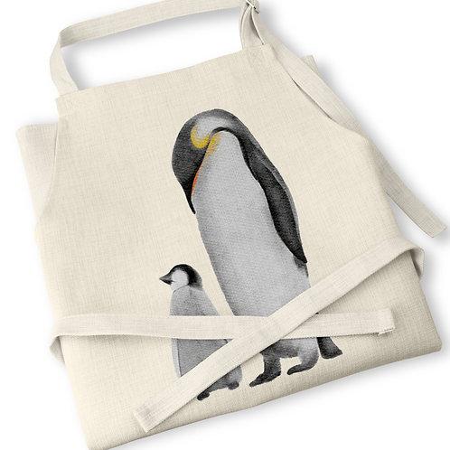 Watercolour Penguins Apron