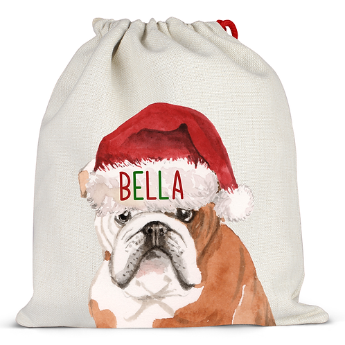 Bulldog Christmas Sack