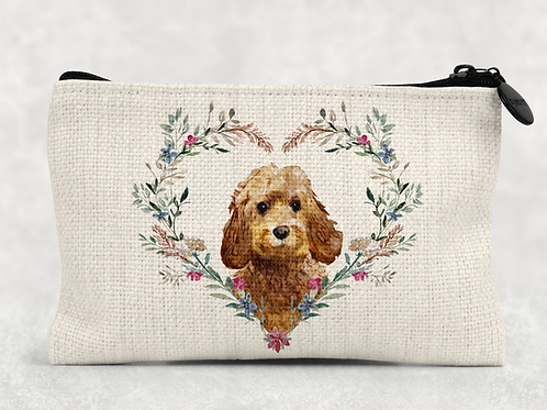 Floral Dog Makeup Bag