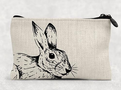 Sketched Rabbit Makeup Bag