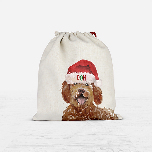Labradoodle Christmas Sack