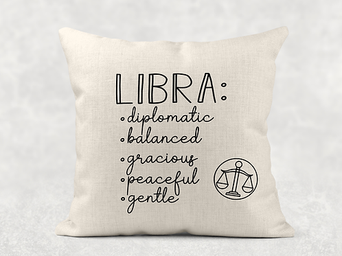 Libra Starsign Cushion