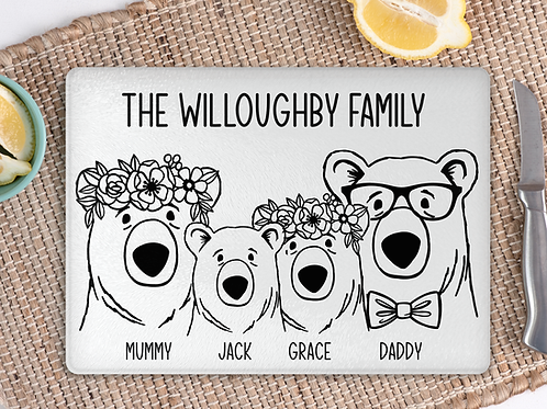 Bear Family chopping board