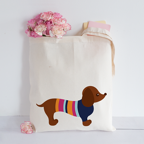 Dachshund in jumper Tote Bag