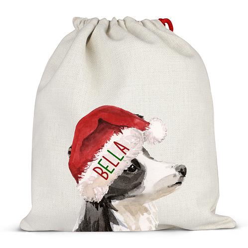 Border Collie Christmas Sack