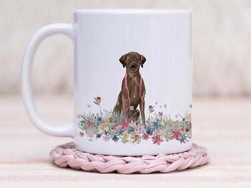 Labrador Floral Wrap Mug