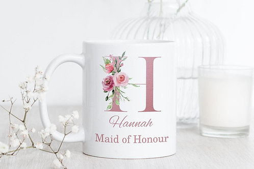 Pink Wedding Party Mugs