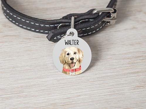 Golden Retriever Dog ID Tag