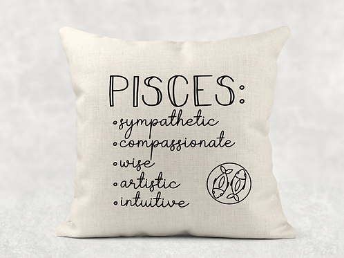 Pisces Starsign Cushion